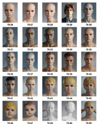 Realistic Mannequins Heads Series
