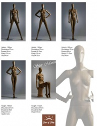 Wood Grain Finish Mannequins